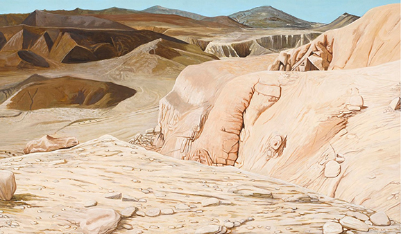 Mars, oil on card, 2018, Foto: Gillian Buckley